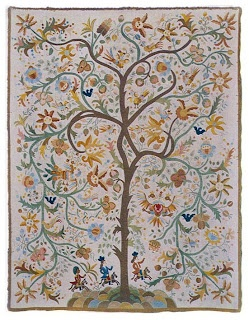silk embroidered quilt - Castelo Branco-Portugal