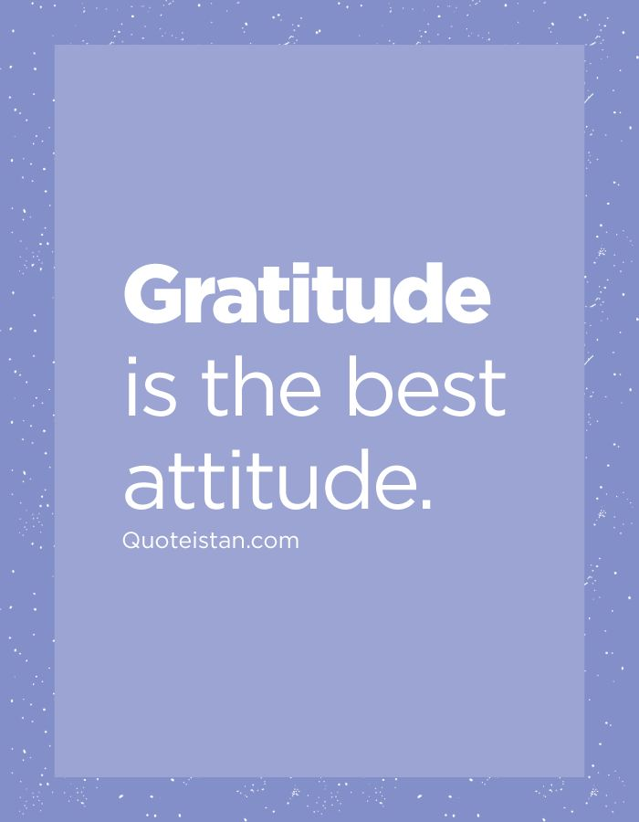 #Gratitude is the best #attitude. http://www.quoteistan.com/2016/06/gratitude-is-best-attitude.html