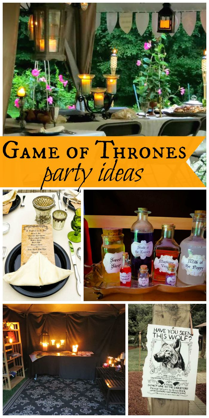 An epic Game of Thrones Nameday Celebration for two birthdays with amazing party decorations!  See more party ideas at CatchMyParty.com!