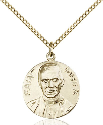 Pope Pius X Pendant (Gold Filled) by Bliss | Catholic Shopping .com