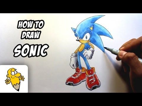 How to draw Sonic the Hedgehog drawing tutorial - http://www.7tv.net/how-to-draw-sonic-the-hedgehog-drawing-tutorial/
