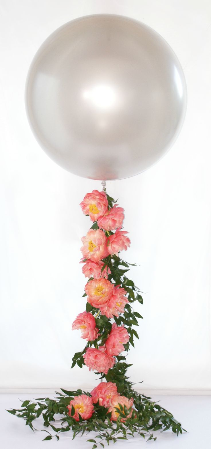 Floral Peony balloon garland! www.cppersonalweddingconcierge.com #floral-designs #balloons