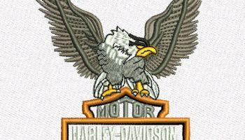 Machine Embroidery Design Harley Davidson Eagle Logo