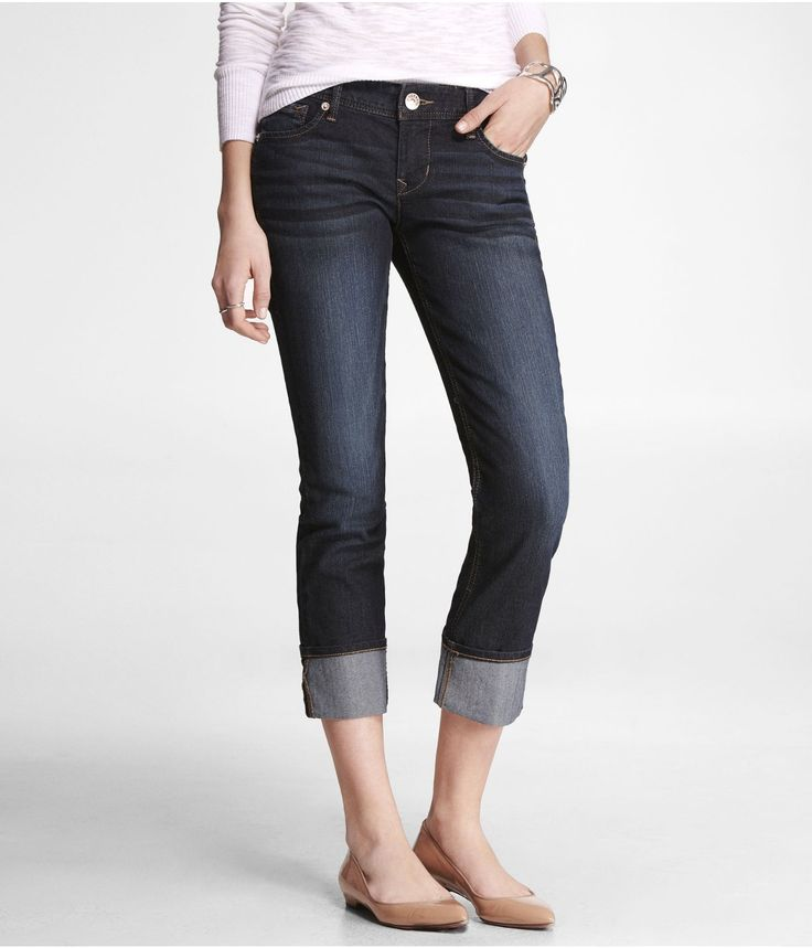 STELLA REGULAR FIT CROPPED ROLLED SKINNY JEAN | Express