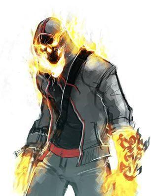 Desmond Miles style Ghost Rider