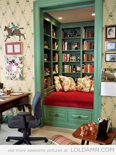 A Closet Transformed Into A Book Nook…