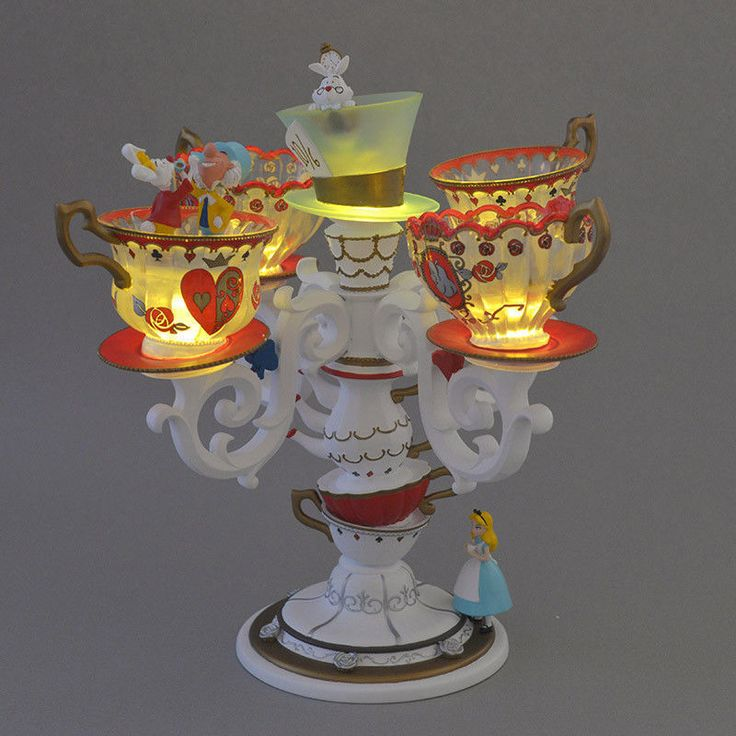Alice in Wonderland ALICE PARTY LED Light Tea Cup Lamp Figure Disney Japan EMS | eBay!