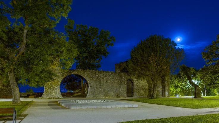 Night at the Tettye castle wall ruins, Pécs