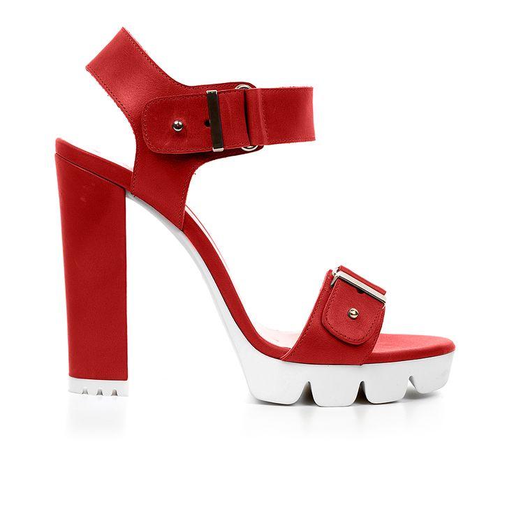Code: 1008A02 Heel height: 11cm www.mourtzi.com #sandals #lugsole #mourtzi