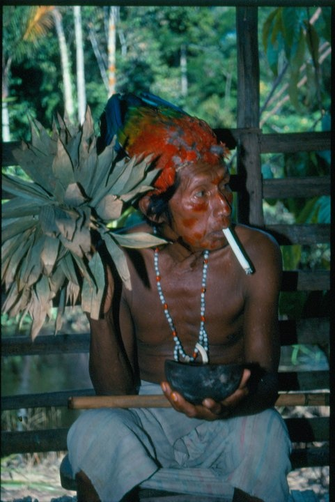 Ramon, a Shuar shaman, Upper Amazon, Peru. A Price on Their Heads, pg. 20 #TravelsWithMyself