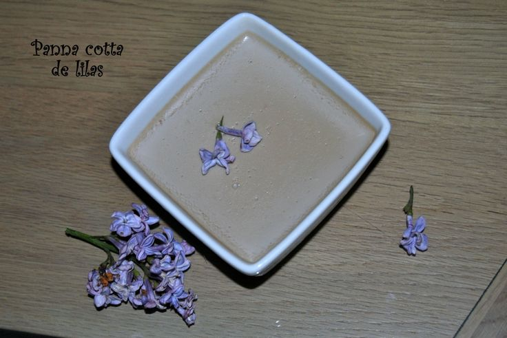 Panna cotta de lilas
