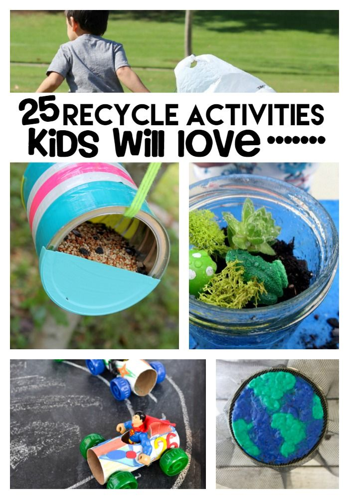 882 best recycle and repurpose images on pinterest diy for Recycling ideas for kids