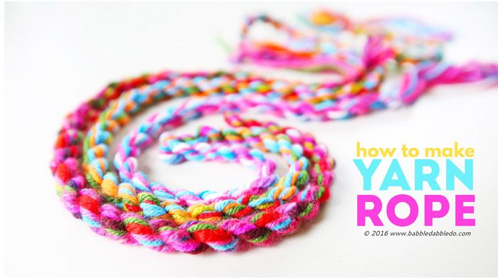 Yarn Craft Idea: How to Make Yarn Rope