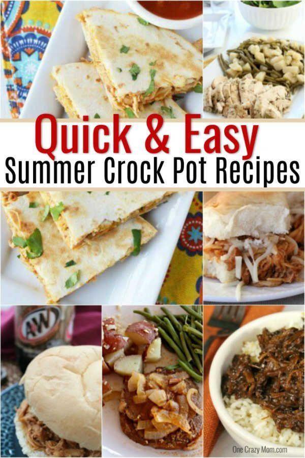 Summer Crock Pot Recipes Over 25 Crock Pot Recipes For Summer Summer Crockpot Recipes Easy Slow Cooker Recipes Recipes