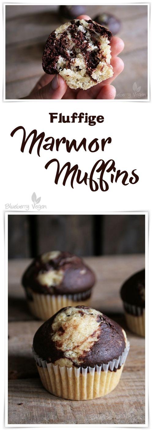 Fluffige Marmor Muffins vegan