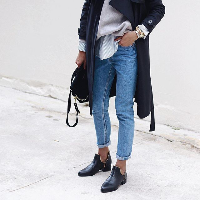 Super-slouchy jeans by @levis ,rockin shoes by @senso ,soft & smooth trench by @wonhundredhq ❤️✌️
