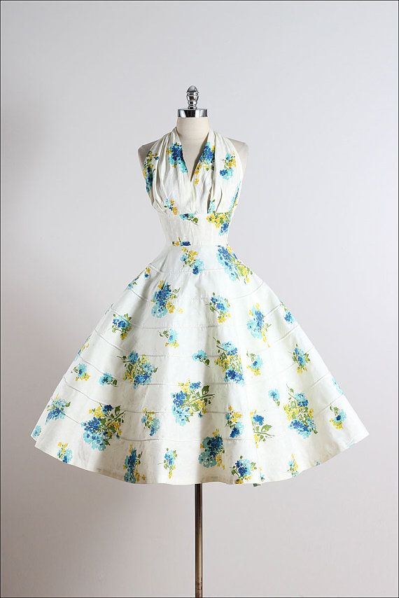 Far and Away . vintage 1950s dress . vintage by millstreetvintage   Just gorgeous!