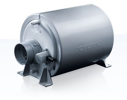 Truma - Therme provides hot water while on the road Truma Tank Therme TT2  Using forced air by product heats water.   5L capacity runs 1.2 bar pressure 370 x 230 x 220 mm Takes around 50 minutes.   Cons; summer time having to use forced air when it's boiling.  Solution. It's summertime use cold water!
