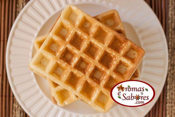 massa de waffles