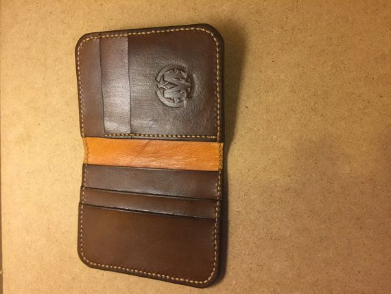 I Am M  Laravel leather card wallet with rfid by IAmMTreasures