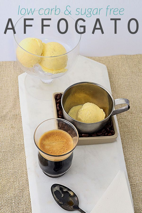 Low Carb Affogato - when you love coffee and ice cream, you gotta put them together! Try this sugar free, gluten free & low carb version of an Italian favorite today. | Tasteaholics.com