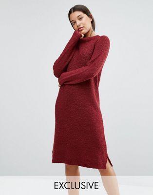 Красное платье-джемпер букле MichaLounge