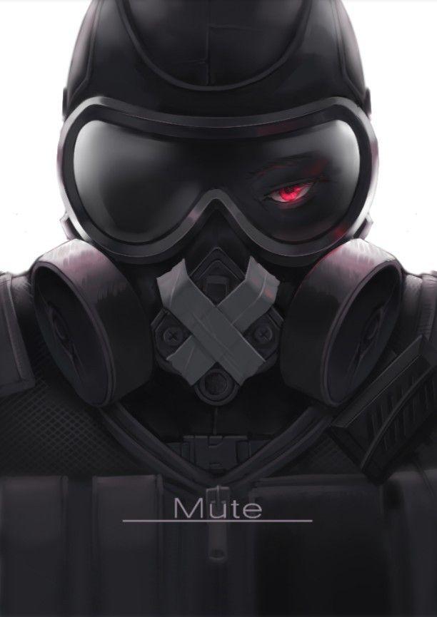 3 Mute 3 With Images Rainbow Six Siege Art Rainbow 6 Seige