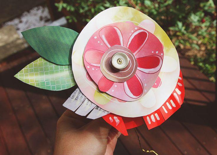 Um colorido, presente artesanal para dar