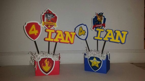 Paw Patrol Party Decorations by VannessasCreations on Etsy