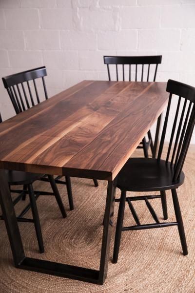 The Taper Table is a hand-crafted dinning table from Union Wood Co.