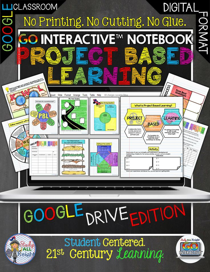 Project based learning activities digital notebook for