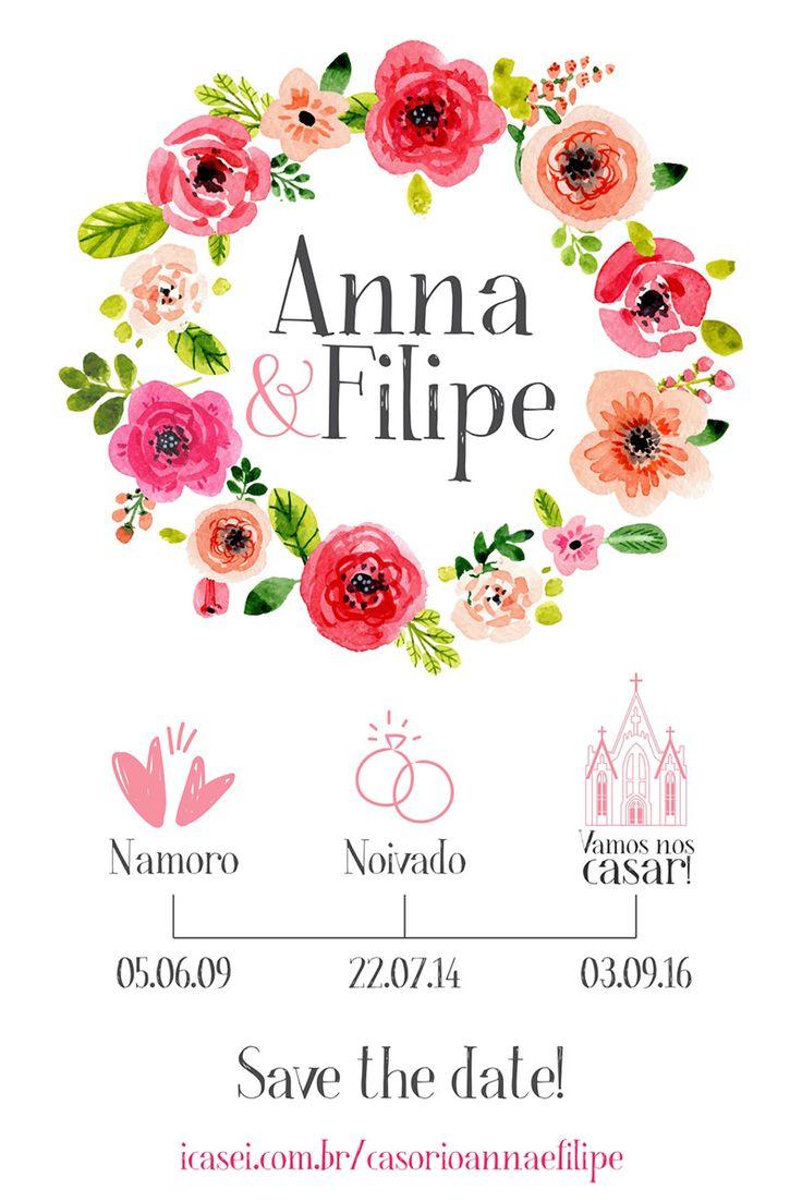 Papelaria de casamento | Save the date