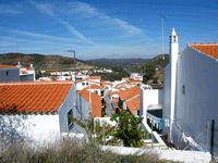 Traditional houses in Alcoutim in eastern Algarve, Portugal