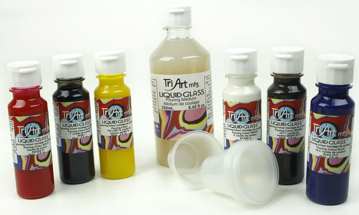 Liquid Glass Paint pouring colours by Tri-Art Mfg.