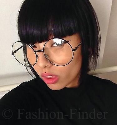 Big Circle Frame Glasses : Oversized