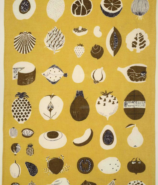 Good Food Glass Towel, (detail), ca. 1961-1962. Lucienne Day.