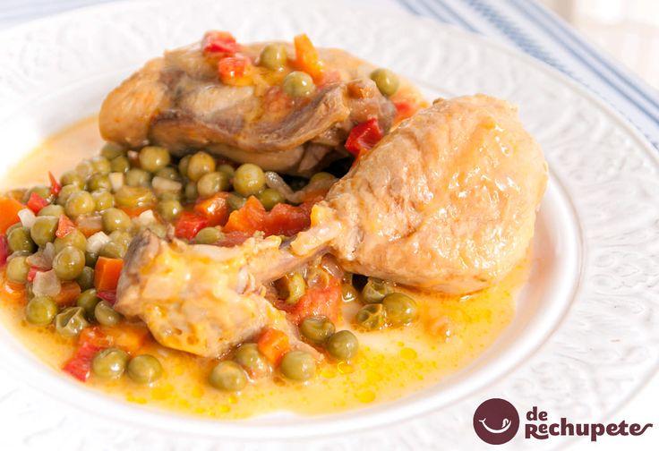 Una manera fantástica de comer pollo con verduras, a la jardinera. Pollo a la jardinera http://www.recetasderechupete.com/pollo-a-la-jardinera/14315 #RecetasTáper