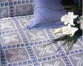 couvre lit fleur en crochet : Textiles et tapis par bebe-serena