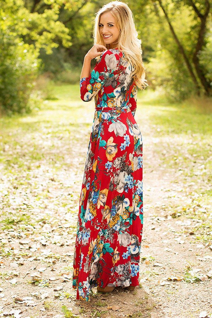 74673b45fd Modest Regal Maxi Dress   Maxi Dresses with Sleeves   Dresses, Fashion  dresses, Modest maxi dress