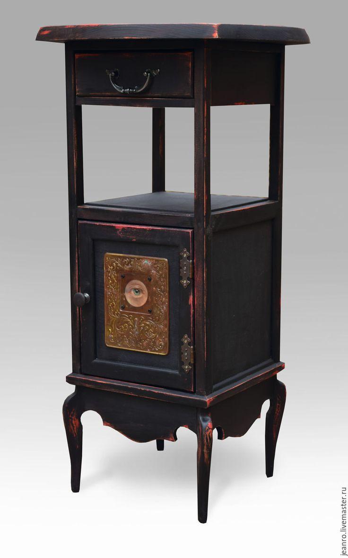 Купить Стол кофейный,(декаданс) - черный, стол из дерева, кофе, декаданс, винаж, модерн, ольха