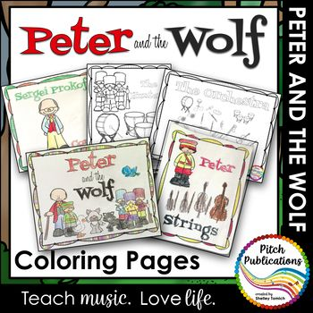 Peter And The Wolf Coloring Pages Student Activities Elementary Music Elementary Music Teacher