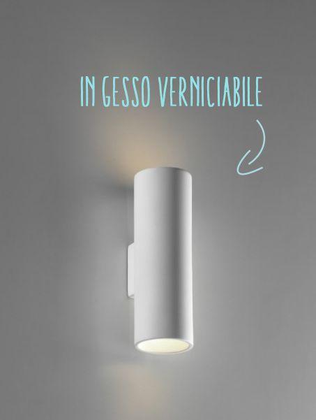 #lampade da parete in gesso verniciabile  Lampade  Pinterest  Interiors