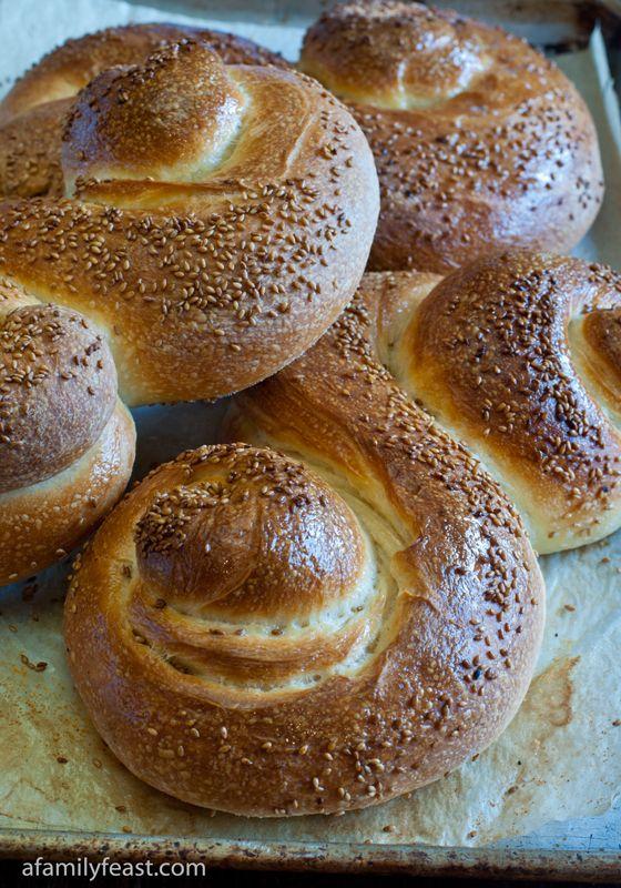 Pane Siciliano - Sesame Seed Siciliano Bread - A classic, authentic Italian bread recipe