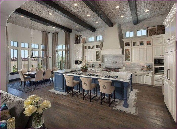 Awesome Farmhouse Decorating Open Kitchen To Living Area 91 Open Concept Ki Dream House Ideas Kitchens Open Concept Kitchen Living Room Open Floor Plan Kitchen