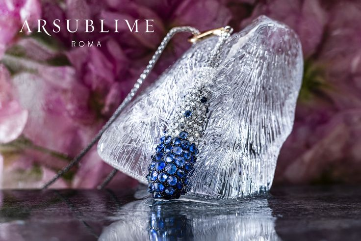 #arsublime #roma #inverno #collection #pendand #frozen #iced #flower #closeup #sapphires #diamods #gioiellitaliani #finejewelry #lusso #artigianale #italiano #madeinitaly #style #fashion #elegance #rome #flower