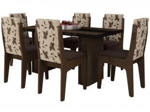 Conjunto de Mesa com 6 Cadeiras Berlim - Movale