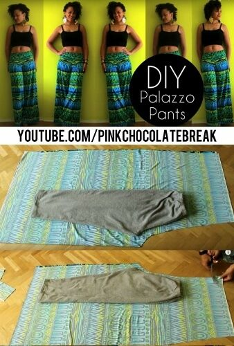 See how Jocy sews palazzo pants without a pattern. This 20 Minute Palazzo Pants DIY with video link can be found here. Click now!