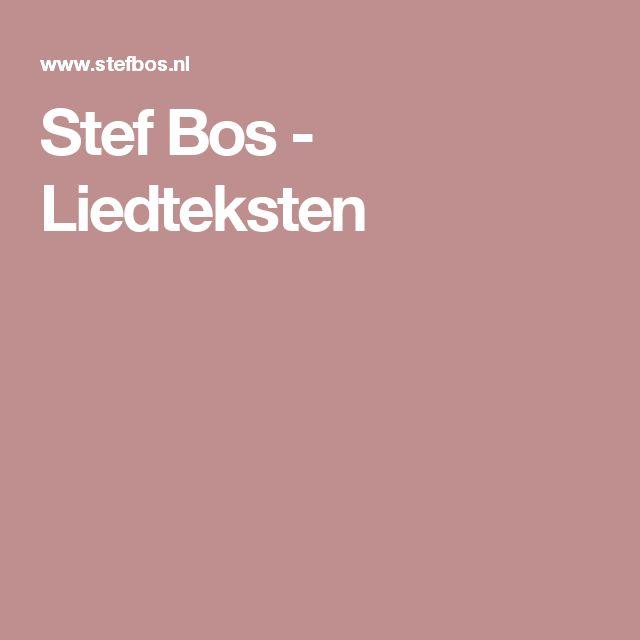 Stef Bos - Liedteksten