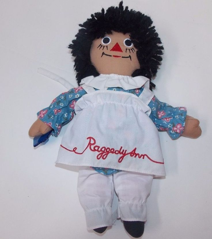 """Applause Raggedy Ann Doll African American Rag Cloth Johnny Gruelle 12"""" #DollswithClothingAccessories"""