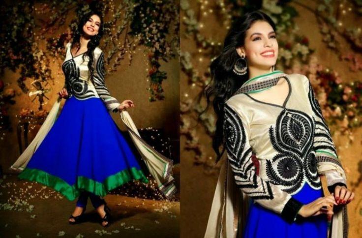 Latest Designs Of Pakistani Salwar Kameez 2014-2015 For Girls